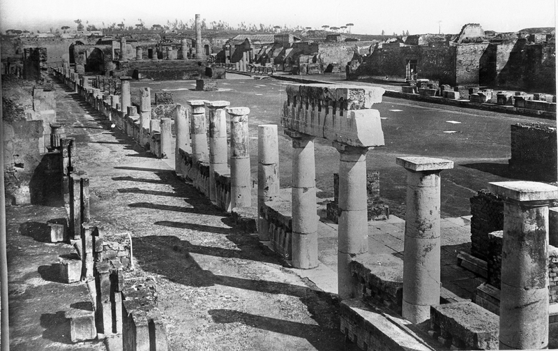 Black and White photo of Pompeii by Severin Worm-Petersen