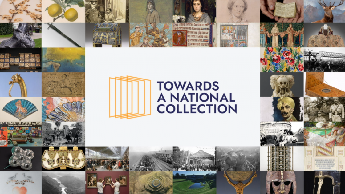 Towards a National Collection logo with notable works of art