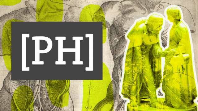 Graphic mashup created with Canva, showing Programming Historian logo