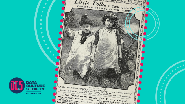 Scottish Post Office Directories 1887 advertisement for 'Little Folks' publication