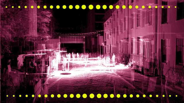 LiDAR scan of outside venue